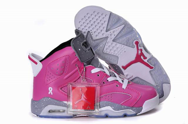 Women Air Jordan Pink Grey White