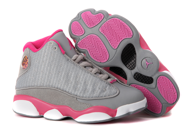 Women Air Jordans 13 gray pink white 2013