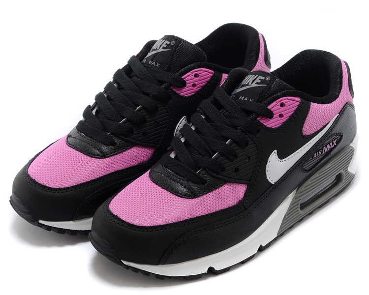 Women's Nike Air Max 90 Black Peach White Shoes