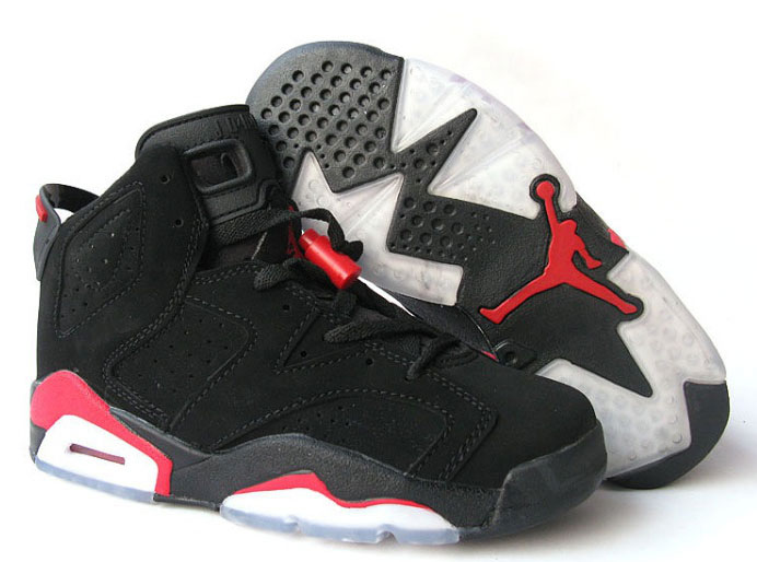 Women Jordan Shoes 6 Black Red