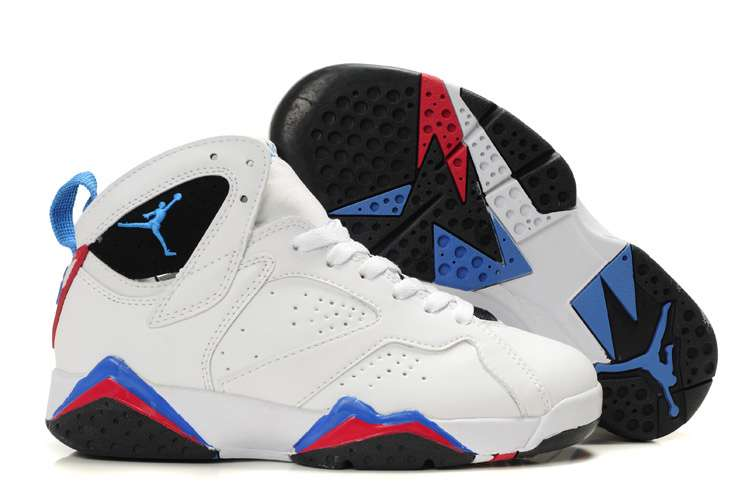 Women Jordan Shoes 7 White Blue Black Red