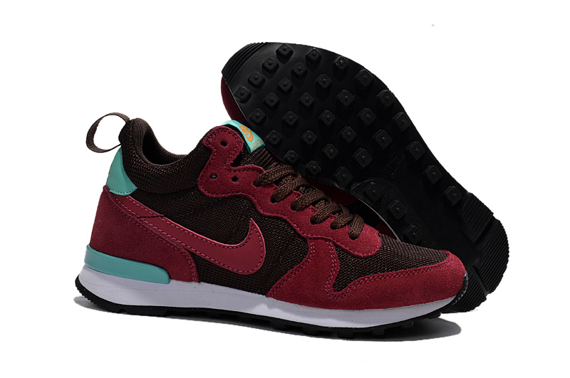 Women Nike 2015 Archive Dark Red Shoes