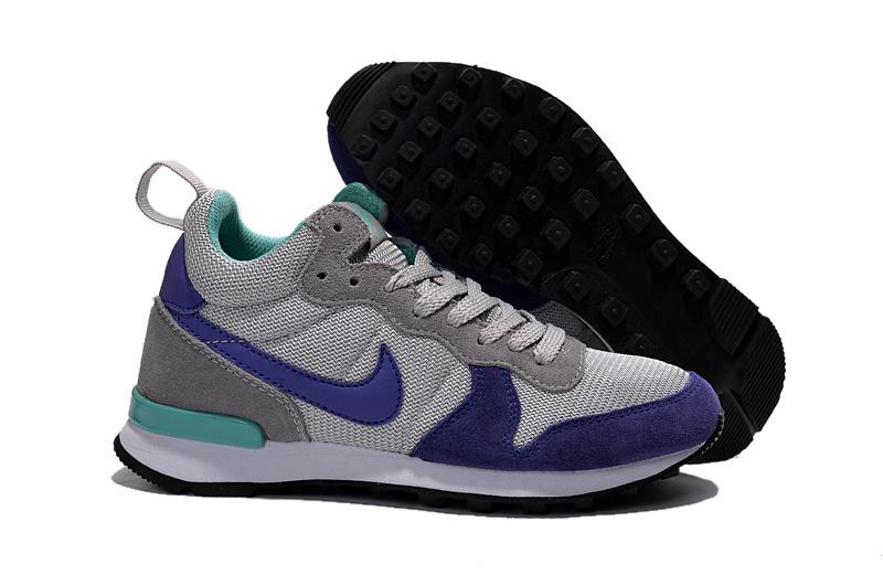 Women Nike 2015 Archive Grey Blue Shoes