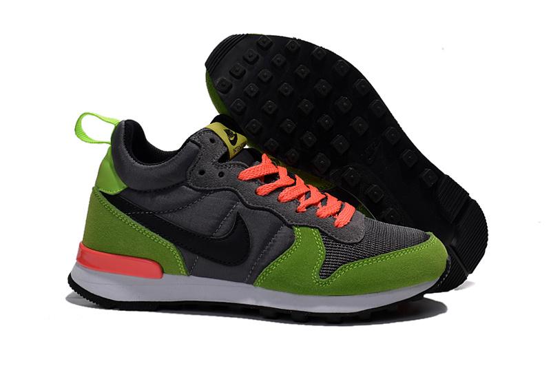 Women Nike 2015 Archive Grey Green Orange Shoes