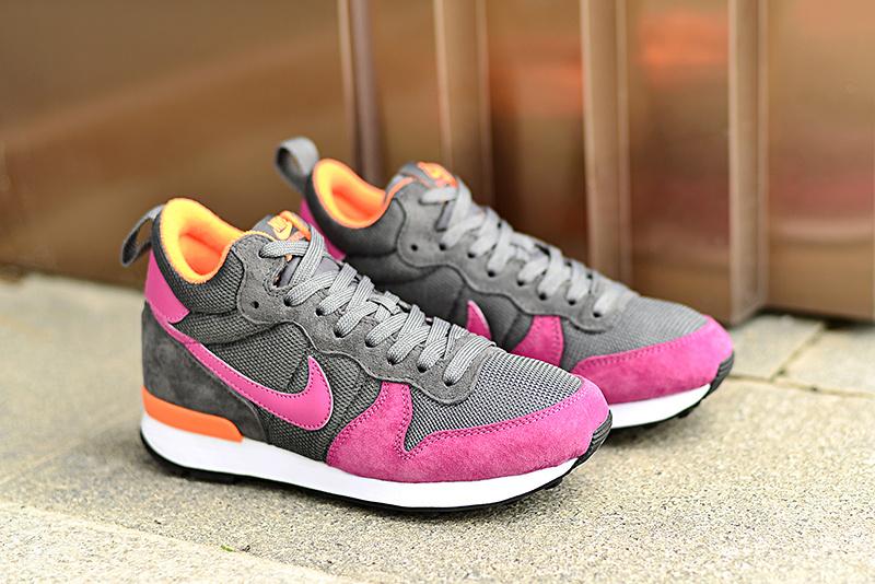 Women Nike 2015 Archive Grey Red Orange Shoes