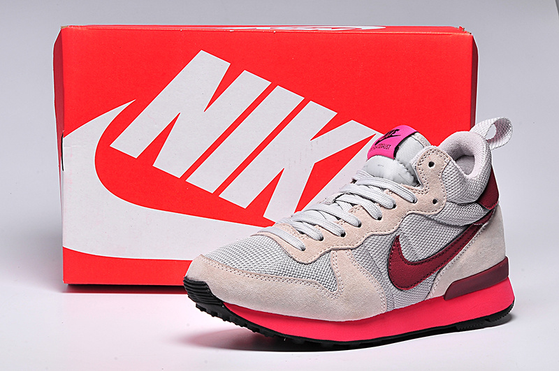 Women Nike 2015 Archive White Red Shoes
