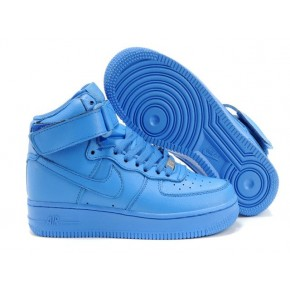 Women Nike Air Force 1 High All Blue Shoes