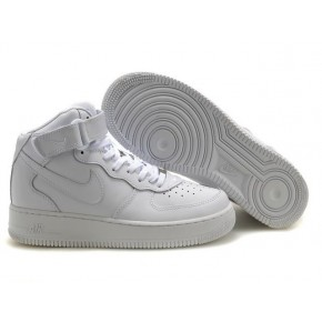 Women Nike Air Force 1 High All White Shoes