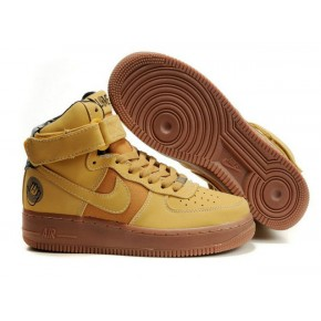 Women Nike Air Force 1 High Brown Shoes