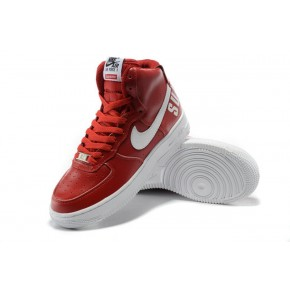 Women Nike Air Force 1 High Red White Shoes