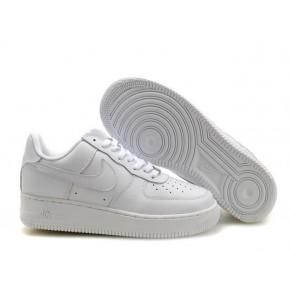 Women Nike Air Force 1 Low All White Shoes
