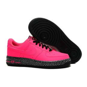 Women Nike Air Force 1 Low Red Black Shoes