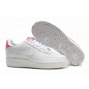 Women Nike Air Force 1 Low White Pink Shoes