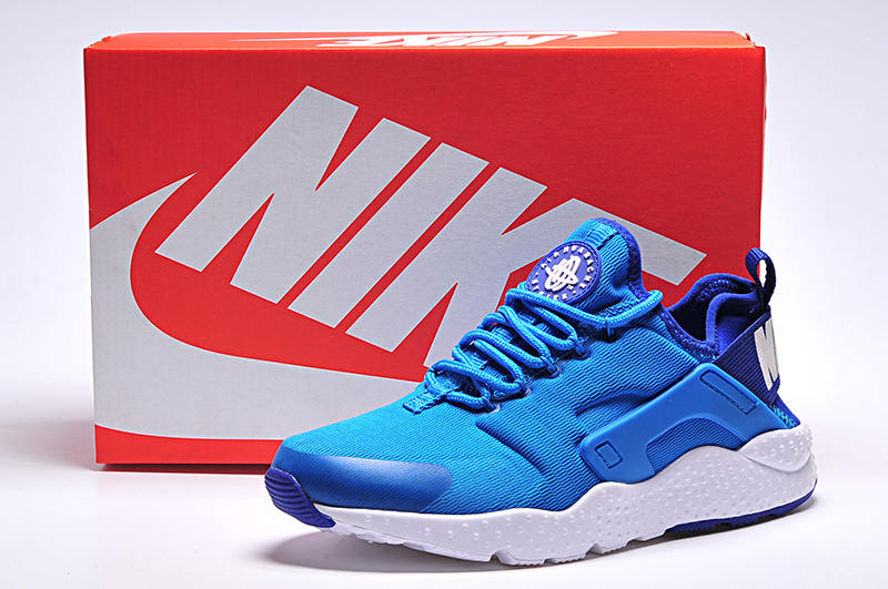 Women Nike Air Huarache 3 Blue White Shoes