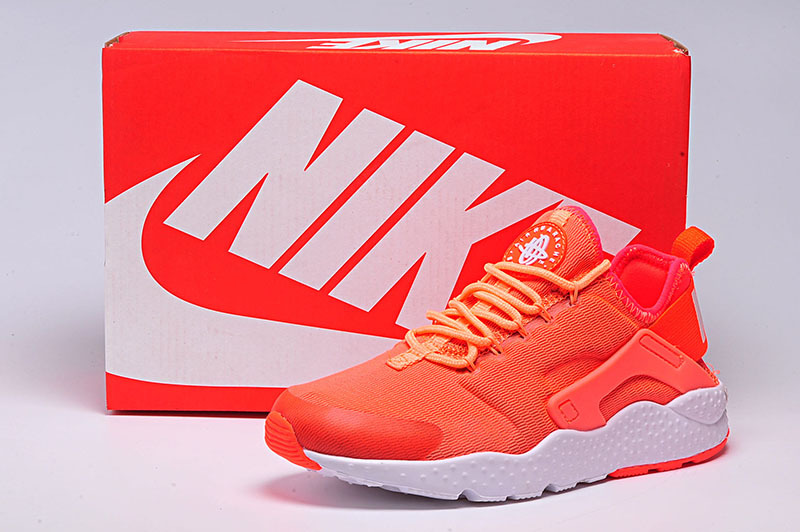 Women Nike Air Huarache 3 Orange White Shoes
