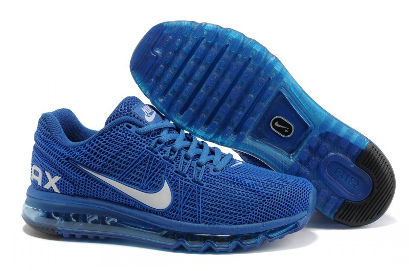 Women Nike Air Max 2013 All Blue Shoes