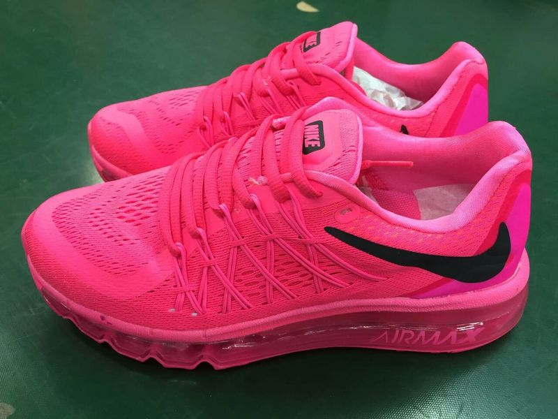 Women Nike Air Max 2015 All Red Shoes