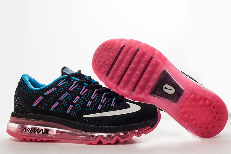 Women Nike Air Max 2016 Black Pink Shoes