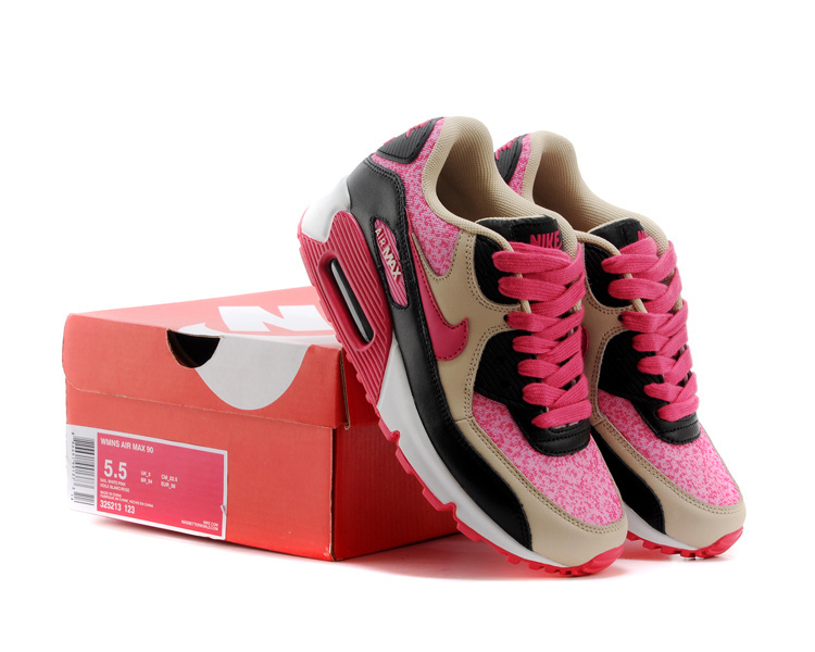 Women's Nike Air Max 90 9026 10 White Peach Print Shoes