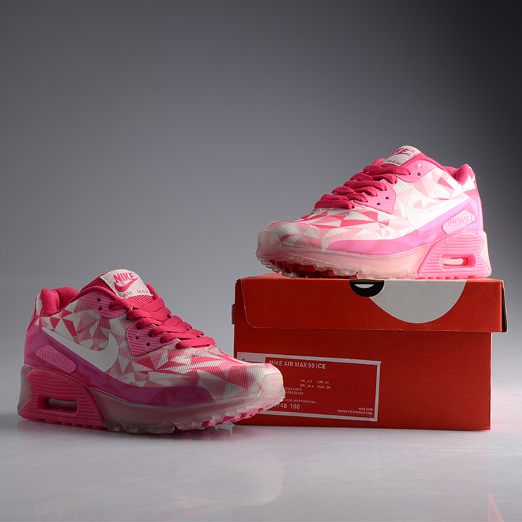 Women Nike Air Max 90 Jelly White Red Shoes
