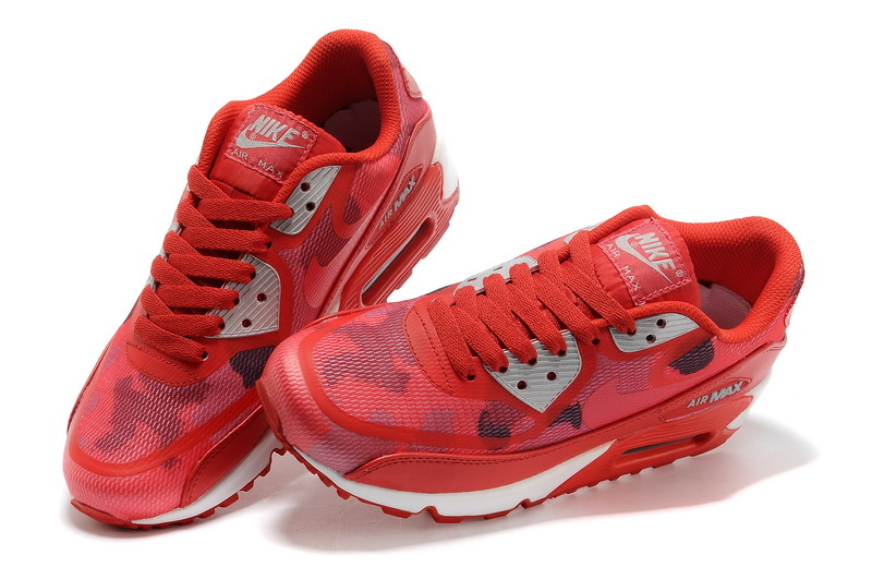 Women Nike Air Max 90 PREM TAPE Red White Shoes