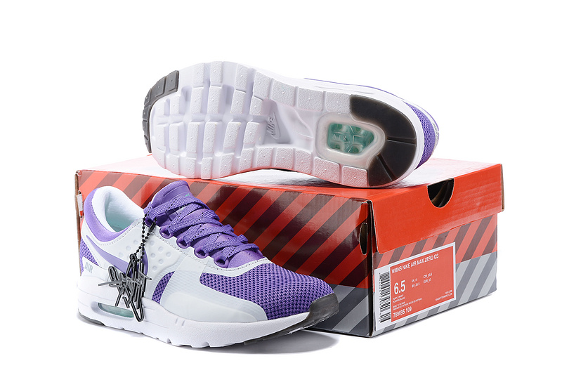 Women Nike Air Max Zero 87 II Purple White Shoes