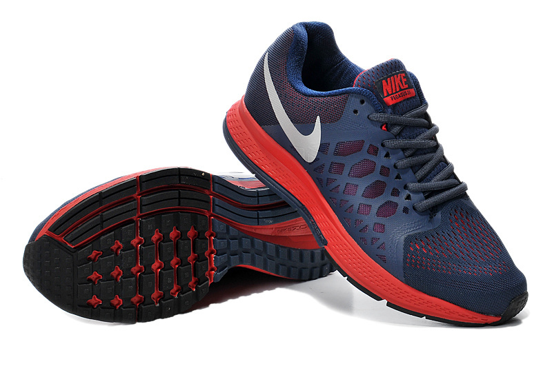 Women Nike Air Zoom Pegasus 31 Deep Blue Red Running Shoes