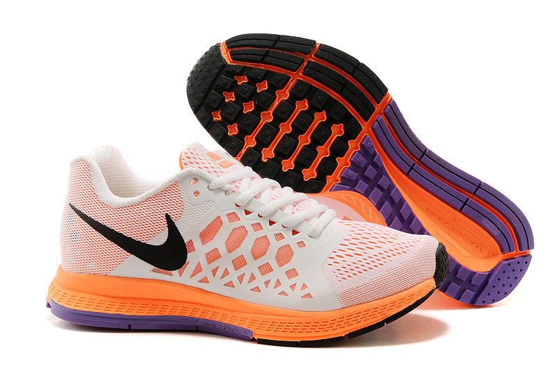 Women Nike Air Zoom Pegasus 31 White Orange Purple Running Shoes