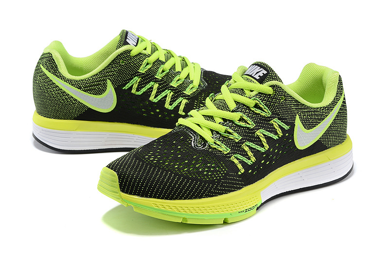 Women Nike Air Zoom Vomero 10 Black Fluorscent Green White Shoes
