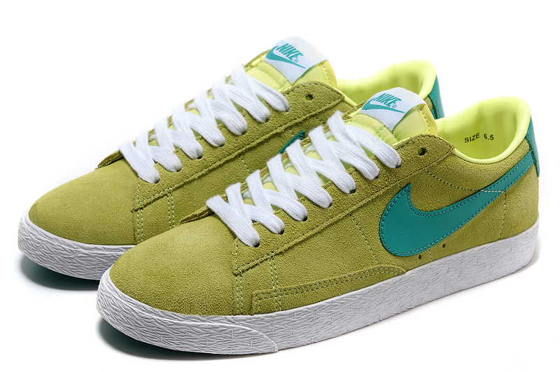 Women Nike Blazer 1 Low Green Blue Shoes