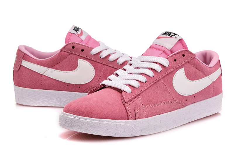 Women Nike Blazer 1 Low Pink White Shoes
