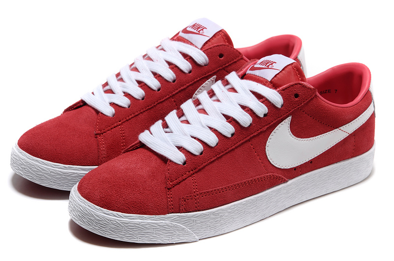 Women Nike Blazer 1 Low Red White Shoes