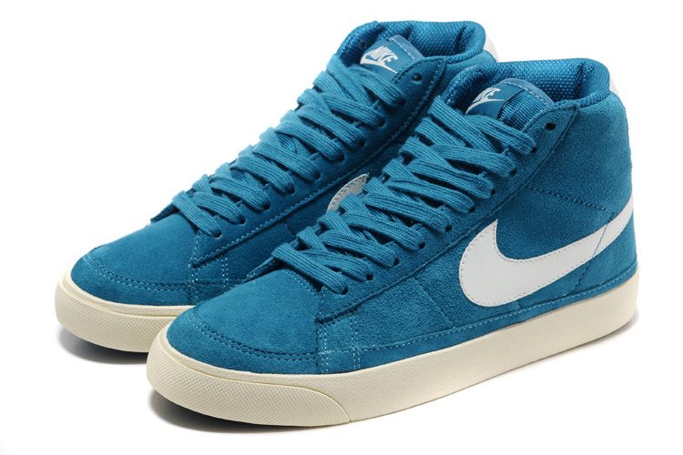 Women Nike Blazer 2 High Blue White Shoes