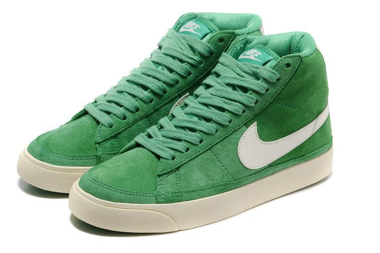 Women Nike Blazer 2 High Green White Shoes