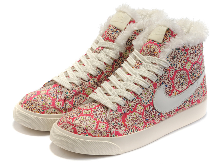 Women Nike Blazer 2 High Wool Cavans White Sun Flower Shoes