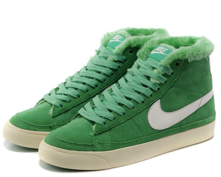 Women Nike Blazer 2 High Wool Green White Shoes
