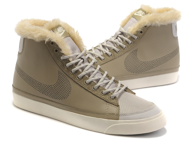 Women Nike Blazer 2 High Wool Light Tan Shoes