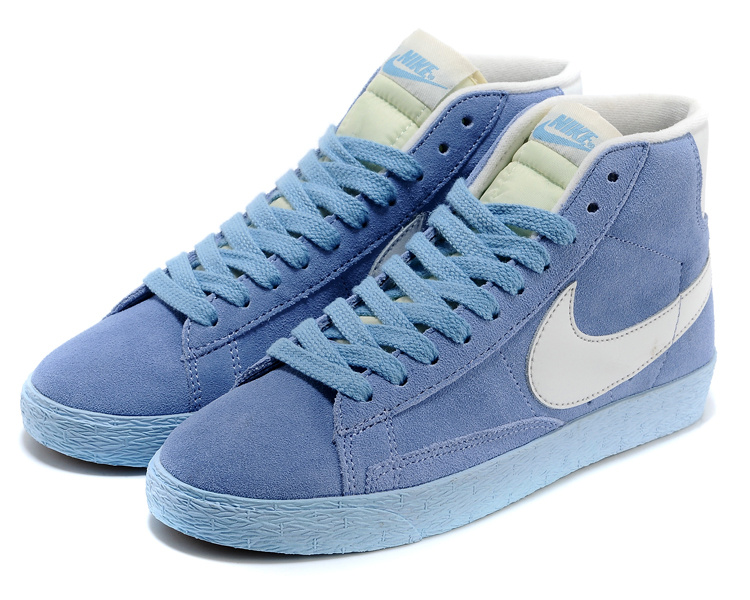 Women Nike Blazer High All Blue Shoes