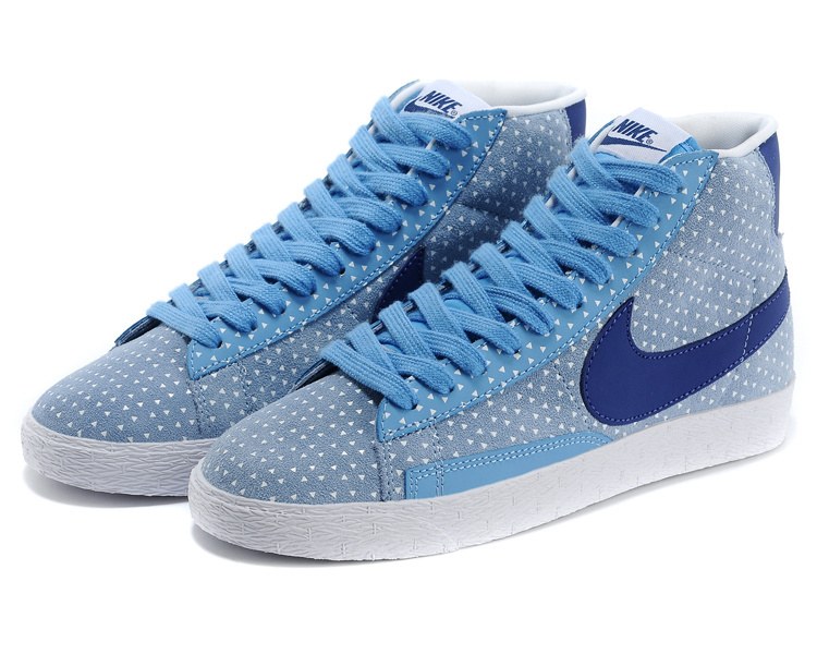 Women Nike Blazer High Baby Blue Shoes