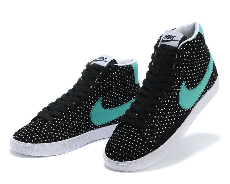 Women Nike Blazer High Black Blue Shoes