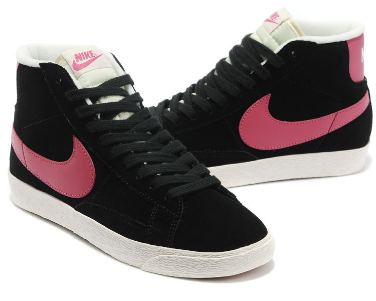 Women Nike Blazer High Black Purple White Shoes