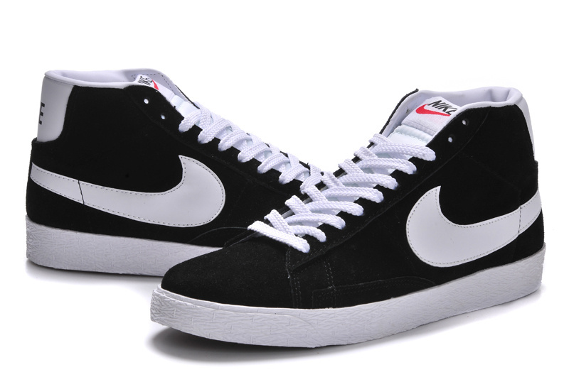 Women Nike Blazer High Black White Shoes