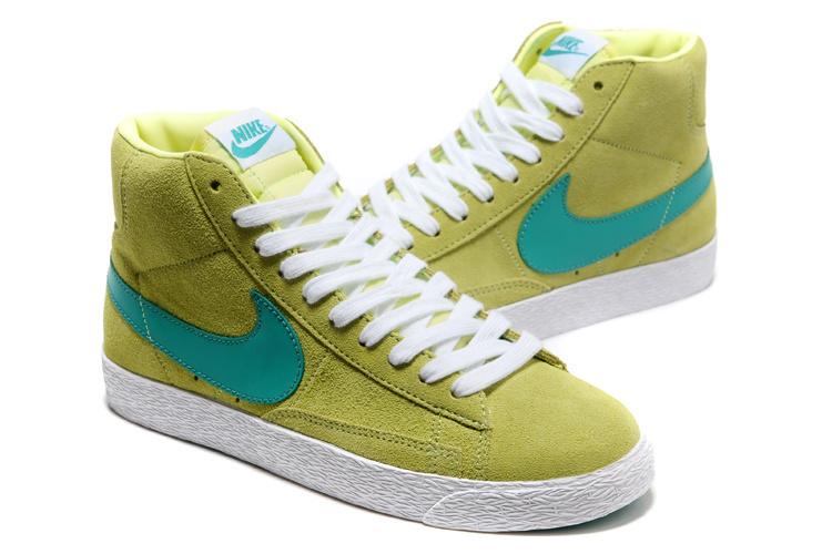 Women Nike Blazer High Fluorscent Green Shoes