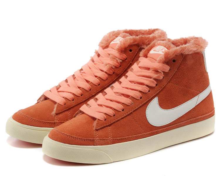 Women Nike Blazer High Orange WhiteShoes