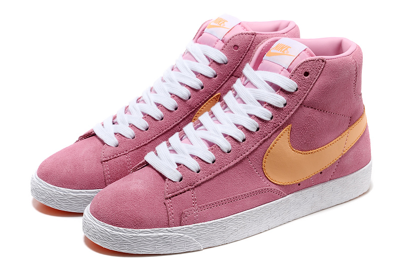 Women Nike Blazer High Pink Yellow White Shoes