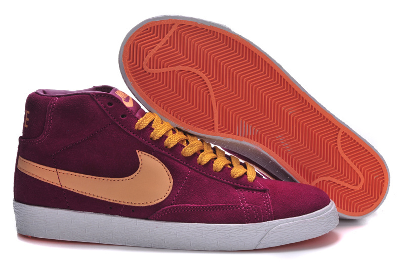 Women Nike Blazer High Purple Orange Shoes