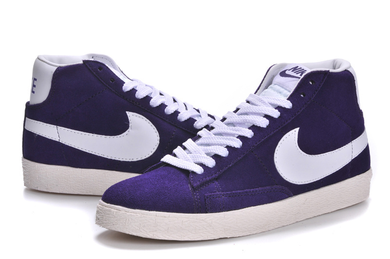 Women Nike Blazer High Purple White Green Shoes