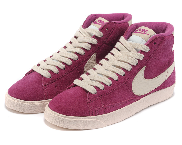 Women Nike Blazer High Purple White Shoes
