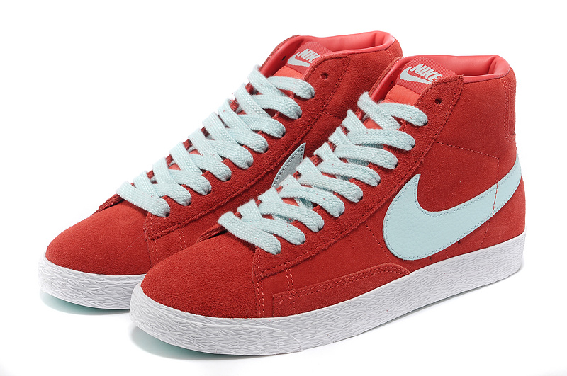 Women Nike Blazer High Red Light Green Shoes