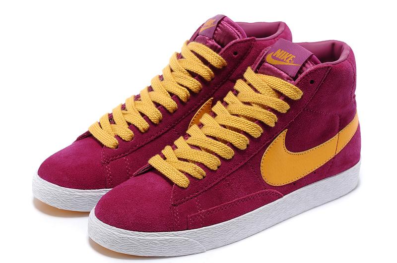 Women Nike Blazer High Red Yellow Shoes